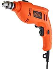 Black + Decker TB555 10mm 550-Watts Reversible Hammer Drill (Orange, 1-Piece)