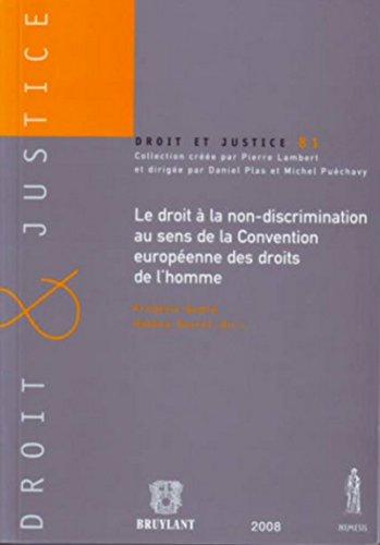 Droit à la non-discrimination au sens de la Convention européenne des droits de l'Homme par Collectif