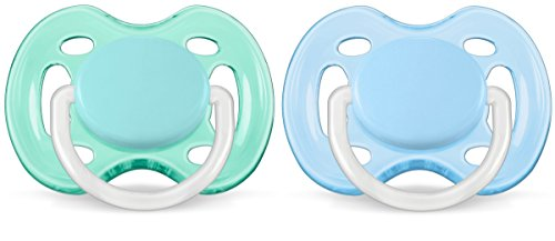Philips Avent SCF178/25 Schnuller Freeflow 0-6M, Jungs