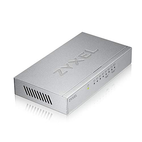 Zyxel 8-port Desktop Gigabit Ethernet Switch-Metallgehäuse, 5 Jahre Garantie [GS-108BV3] -