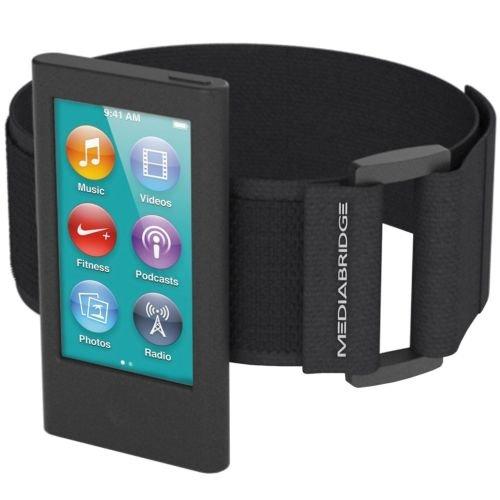 Mediabridge AB1-IPN7-BLACK Armband für iPod Nano (7. Generation), Schwarz - Wasserdichte Ipod Armband Nano