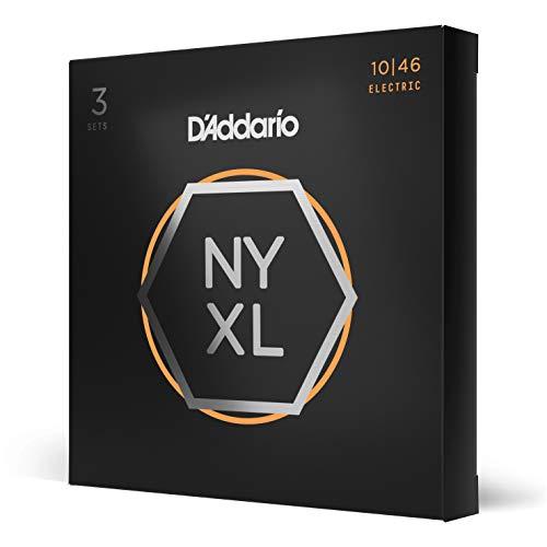D\'Addario NYXL1046-3P Nickel Wound E-Gitarre Saiten (Regular Light, 10-46, 3 Sets)