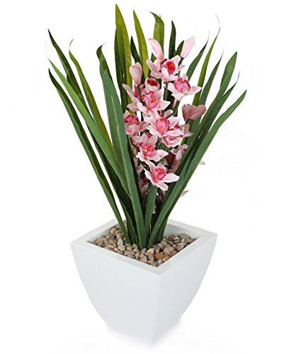 Closer To Nature FT026PB - Orchidée Cymbidium rose artificielle de 69 cm