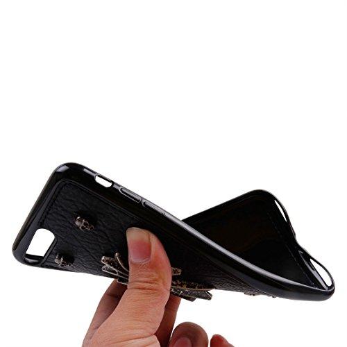 Hülle für iPhone 7 plus , Schutzhülle Für iPhone 7 Plus Niet-Art-Muster TPU + Metall weicher schützender rückseitiger Abdeckungs-Fall ,hülle für iPhone 7 plus , case for iphone 7 plus ( SKU : Ip7p1211 Ip7p1211c
