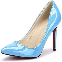 RUAYE , Damen Pumps Blau Himmelblau