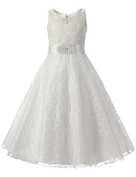 LSERVER-Vestido de Niñas y Princesas de Encaje Para Fiestas