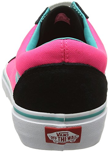 Vans U Old Skool, Baskets Basses Mixte Adulte Multicolore (Brite Black/Neon Pink)