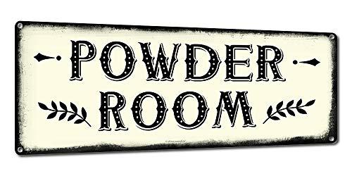 Farmhouse Decor ~ Moderne & rustikale Wanddekoration für Küche, Esszimmer, Scheune ~ Vintage-Stil ~ 24 Gauge Stahlschilder ~ mit Bauernhoftieren, Hühnern, Kühen, Ziegen, Schweinen, Pferden Powder Room - Schwein Hütten