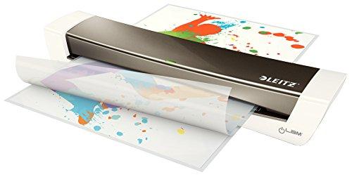 Leitz iLAM HomeOffice A3 Laminiergerät 310mm/min grau/weiß 32cm, 3min, 0,6mm, 80µm (Office Laminiergerät)