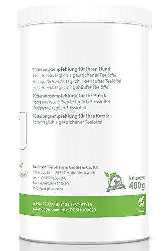 AniPlus – Kieselgur forte 400 g für Hunde unterstützt die Fell- und Hautbeschaffenheit mit wertvollem Silizium (100% biologisch) - 3