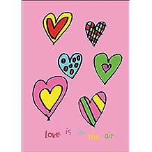 Hübsche Valentinskarte: Love is in the air • auch zum direkt Versenden mit ihrem persönlichen Text als Einleger.