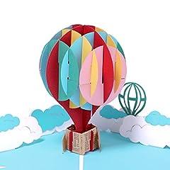 Idea Regalo - Paper Spiritz - Biglietto di auguri pop-up 3D per compleanno, laurea, festa del papà, anniversario, con busta, tagliato al laser, per tutte le occasioni, fatto a mano per bambini