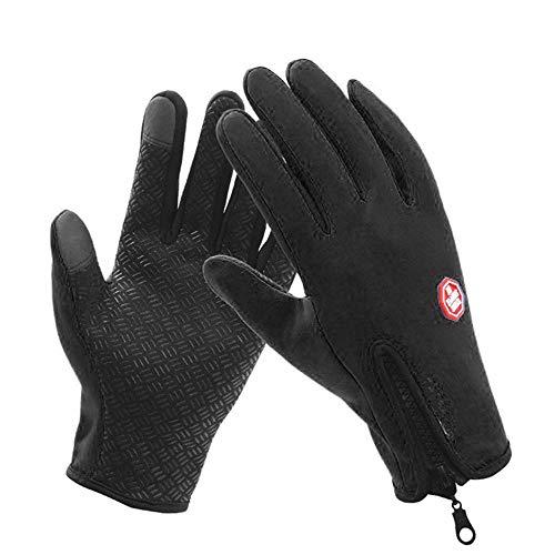 kingdom gbtm touch screen guanti antipioggia per ciclismo, sport all'aria aperta, campeggio, guida, giardinaggio (xl, nero)