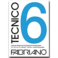 فابريانو  6 تيكنيكو دفتر بريستول خشن، أبيض  20 ورقة   220.00 جم مقاس A3