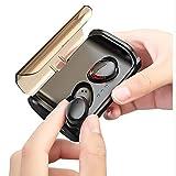 Kaoke2 Auricolare Bluetooth Senza Fili Sport da Corsa Guida Doppio Orecchio in-Ear Mini Ultra Piccolo Invisibile Auricolari Impermeabili Auricolari può rispondere a Telefono Apple Subwoofer Unisex