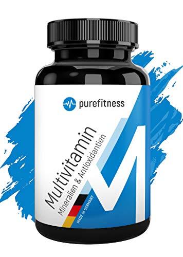 MULTIVITAMIN A-Z + Mineralien + Antioxidantien I In 1 Vitamin Tablette I 240 Tabletten I Multivitamin Vegan I Vitamine A-Z I REIN OHNE ZUSÄTZE