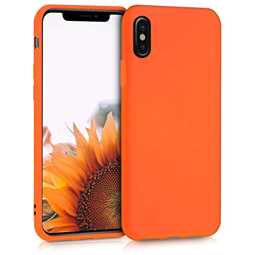 kwmobile Apple iPhone X Hülle - Handyhülle für Apple iPhone X - Handy Case in Neon Orange