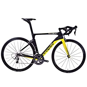 41VJMcQWylL. SS300  - Tropix Paris 700c Wheel Road Racing Bike 52cm Lightweight Carbon Fibre Frame Shimano Ultegra 22 Speed Black/Yellow 8.3 Kgs