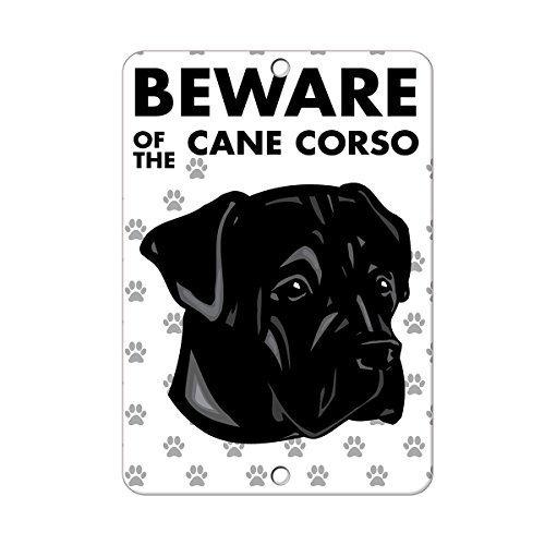 Cane Corso wennuna-Metall-Schild Beware of Hunde, 8x 12,