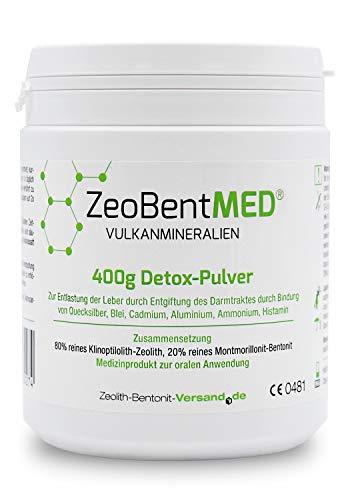 ZeoBent MED Detox-Pulver 400 g, CE zertifiziertes Medizinprodukt