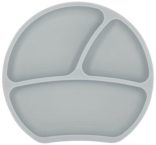 Kindsgut Piatto bebè in silicone con ventosa, tortora