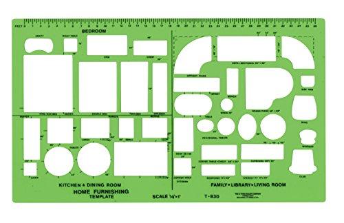 Westcott Technische Zeichnen Vorlage (t-830)