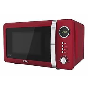Akai A24005R Digital Microwave, 700 Watt, Red