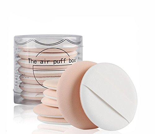 1 lot (7pcs) multifonctionnel Coussin d'air éponge outils de maquillage Maquillage éponge Houppette humide et sec double usage Maquillage éponge avec boîte pour BB CC Cream Fond de teint liquide