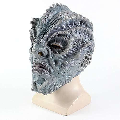 Latex Fisch Monster Maske Latex Kopfbedeckung Cos Bar Dance Party Halloween Horror Maske,A (Fisch Kostüm Einfach)