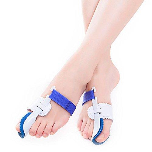Healifty 1 Paar Hallux valgus Korrektur Zehenspreizer Fußschiene zur Hallux Schmerzlinderung (Weiß Blau)