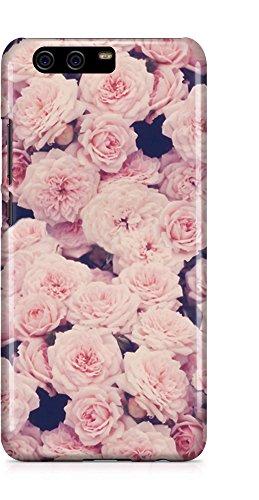 COVER vintage ROSES Blume Floral pink Handy Hülle Case 3D-Druck Top-Qualität kratzfest Huawei P10 Blogger-kamera