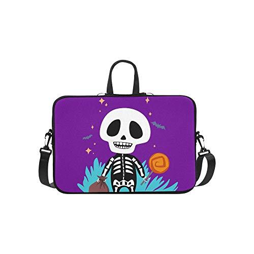 n Halloween Muster Aktentasche Laptoptasche Messenger Schulter Arbeitstasche Crossbody Handtasche Für Geschäftsreisen ()