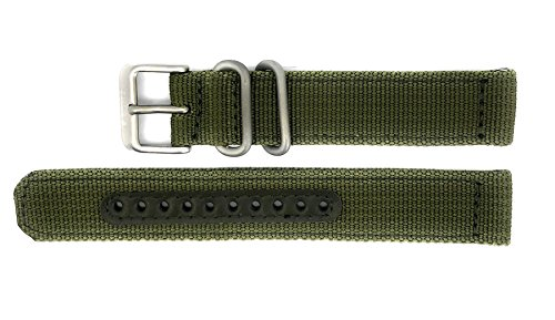 Seiko 5 SNK805/SNK805K2 Replacement Green Fabric Watch Strap 4K11JZ