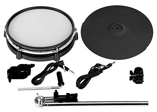 "XDrum DD-530 Mesh Add On Pack (Erweiterungs-Set für DD-530 E-Drum-Set, 10"" Mesh Head, Tom Pad, 12\"" Becken Pad, Dual Zone, Choke-Funktion, Roland kompatibel, inkl. Klemmen, Haltearm und Kabel)"