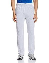 Hanes Men's Cotton Track Pants (8907378021489_MPP70-003-PL_Medium_Light Steel Melange)