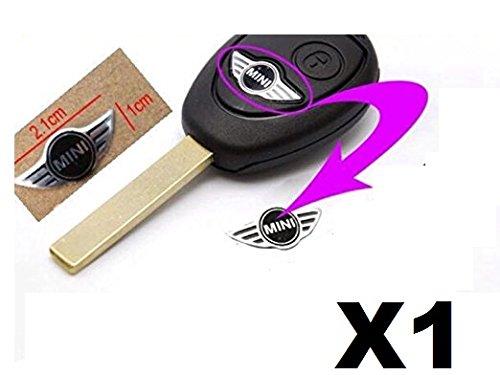 Badge autocollant avec logo Mini Cooper pour clé de voiture 20 mm