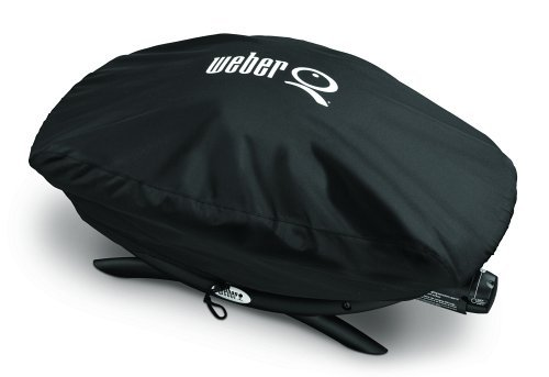 Weber Stephen Products Q Grill Cover Vinyl Bonnet For Q2000 Q200