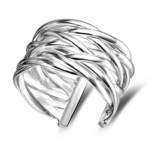 Ringe Mode Kreativ Gewebt Form Offener Ringe Schmuck für Geburtstags Geschenk,Einstellbare Größe