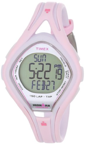 Timex Ironman T5K506 - Reloj de mujer de cuarzo, correa de caucho color rosa