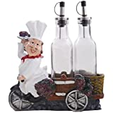 EZ Life Fat Foodie Chef Resin Holder - Oil & Vinegar Bottles
