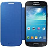 Samsung Flip - Funda para móvil Galaxy S4 Mini (Permite hablar con la tapa cerrada, sustituye a la tapa trasera), azul