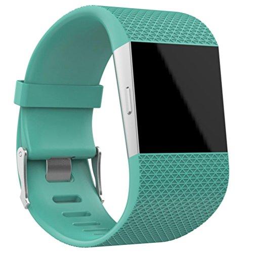 OVERDOSE Armband für Fitbit Surge, Ersatz Armband Band Verschluss Wölbungs Werkzeug Installationssatz für Fitbit Surge (Green, 160-220MM) (Abdeckung Ersatz-hochstuhl)