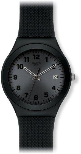 Swatch YGB4007 - Reloj para mujeres, correa de plástico color negro