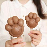 WUSYO 2pcs Dog Paws Shape Ice Cream Mould Popsicle Ice Cream Maker Molds Tray Tool For Kids Party Happy,Coffee