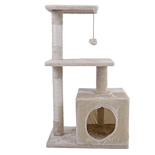 NIKINA - Muebles para Gatos para casa de Gatos, casa para Gatos, casa para Dormir, arañar, Poste con Agujeros para Gatos, para Entrenar