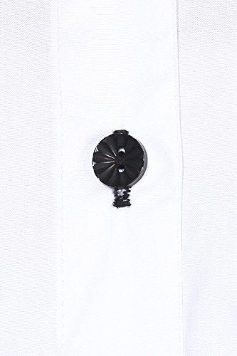 dazzio Women's Slim Fit Cotton Formal Shirt(WZSH0082_White_L) (Please Refer Size Chart)