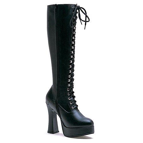 Ellie Shoes Inc, Damen Stiefel & Stiefeletten Mehrfarbig Mehrfarbig Einheitsgröße, Schwarz - Schwarzer Lack - Größe: 45 EU (High Boots Spike Heel Knee)