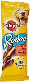PEDIGREE - Rodeo au boeuf - Snacks pour chiens - Sachet de 4 torsades à mâcher (70g) - Lot de 20