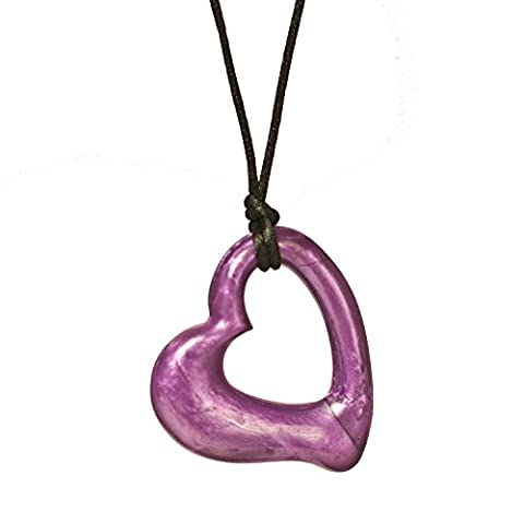 Chewigem Miller Heart Necklace - Sensory Chew - Fidget Toy - Autism - Purple