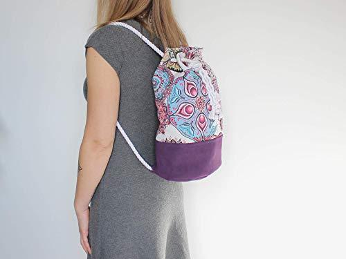 Rucksack mit Mandala Muster - 5